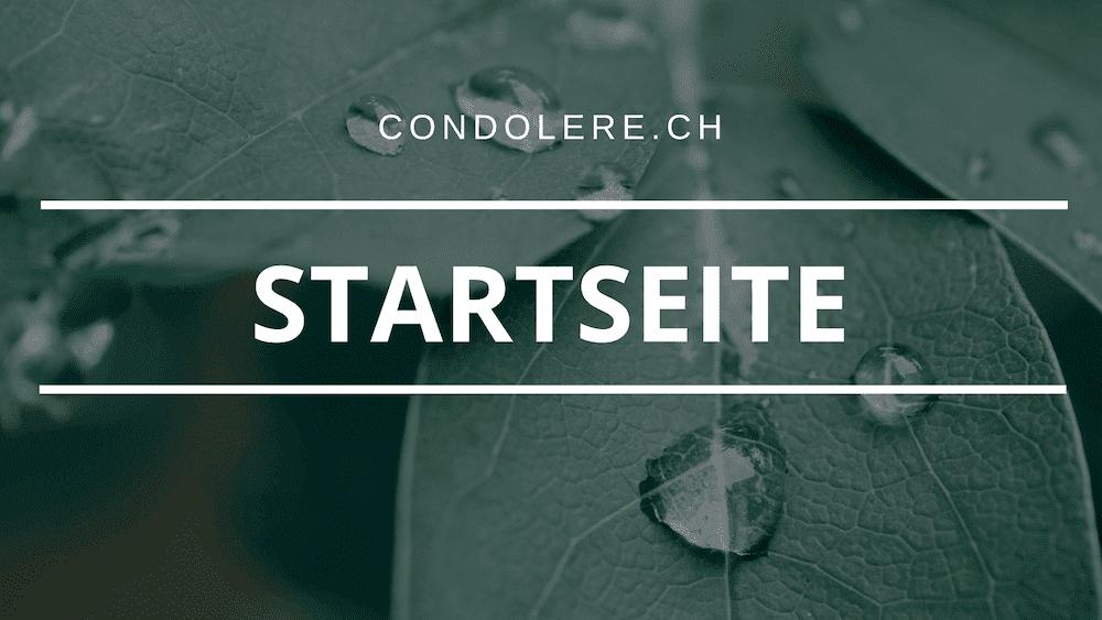 Condolere.ch - Startseite